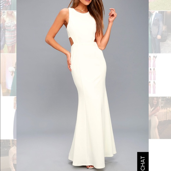 Lulu's Dresses & Skirts - Lulu's white gown